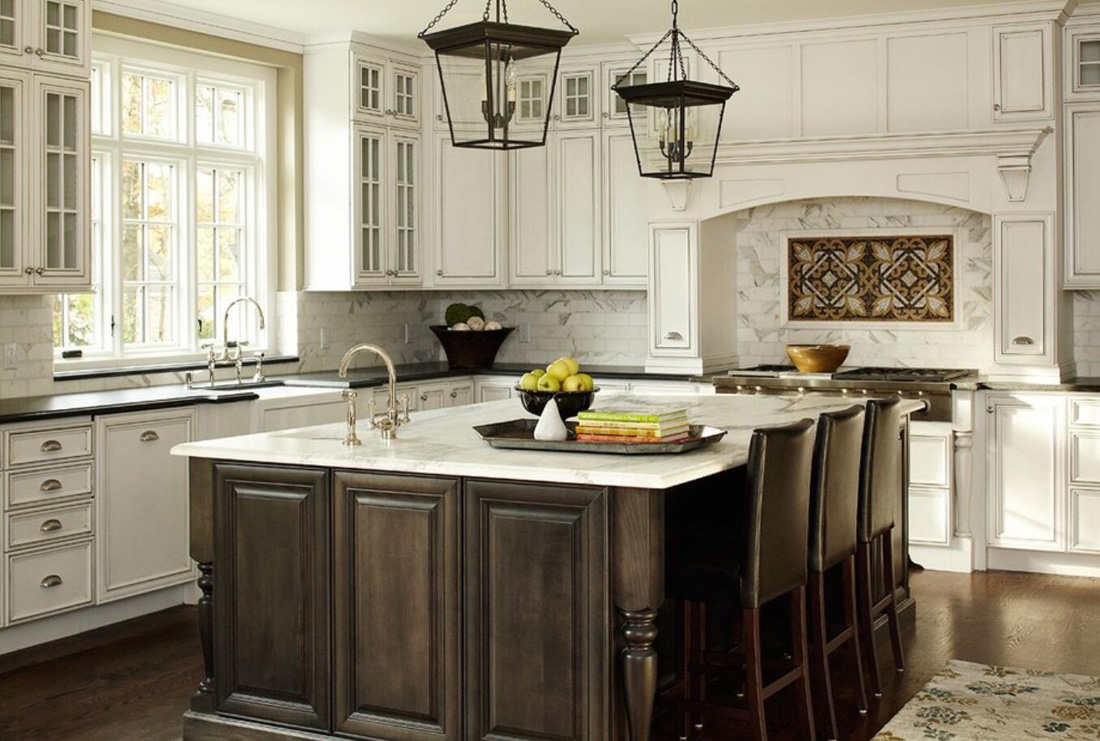 White and Black Stone for Countertops