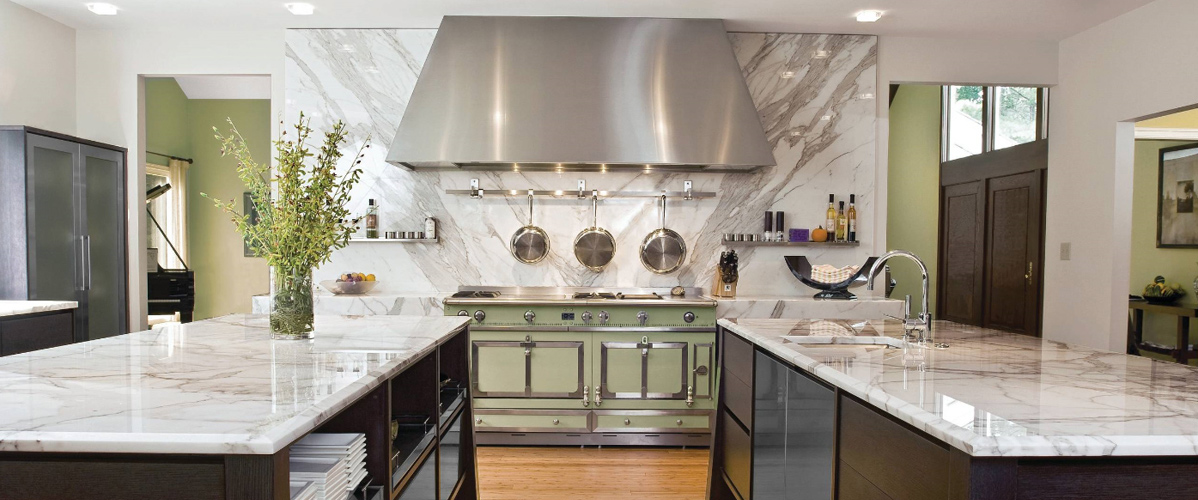 White Marble Kitchen Countertop