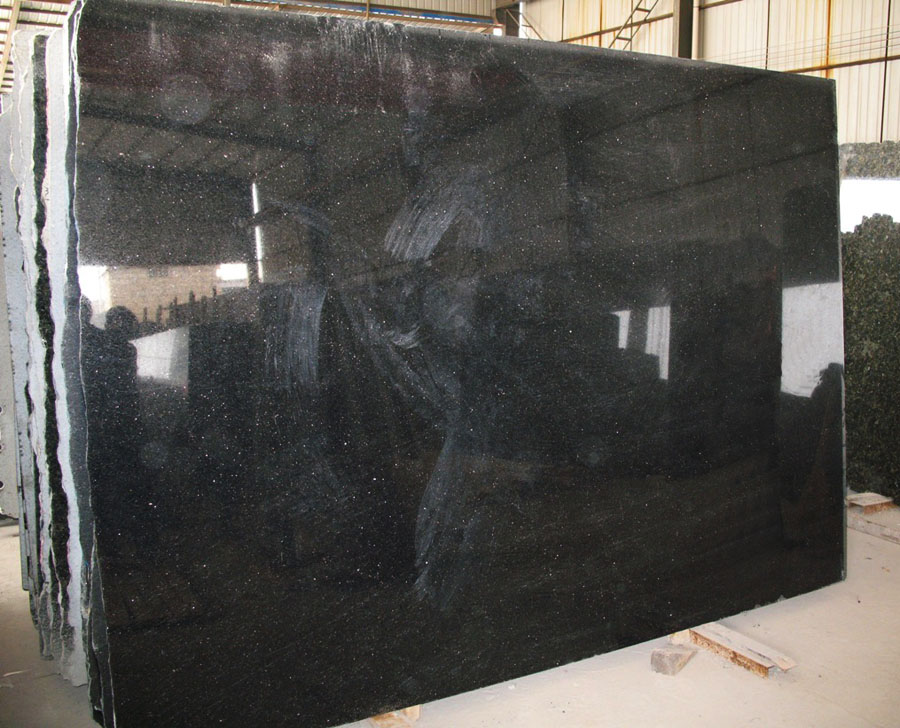 Black Galaxy Granite Slabs Gangsaw Large Granite Slabs