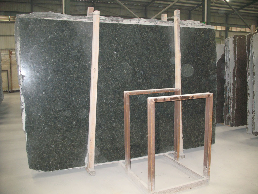 Verde Ubatuba Granite Slabs Brazilian Gangsaw Granite Slabs