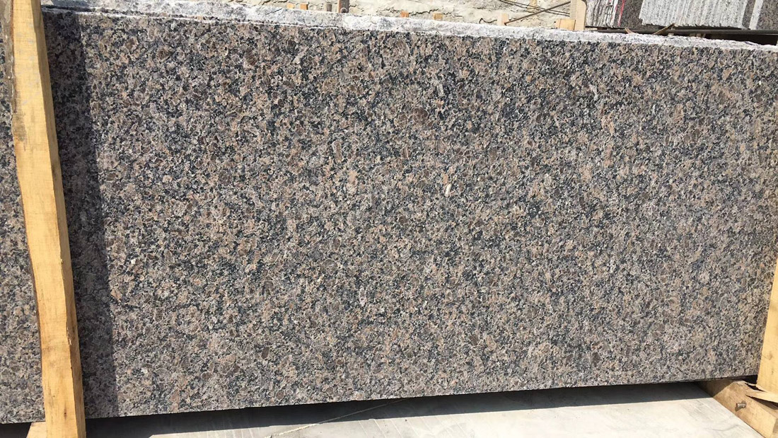 Chinese Imperial Brown Granite Half Slabs