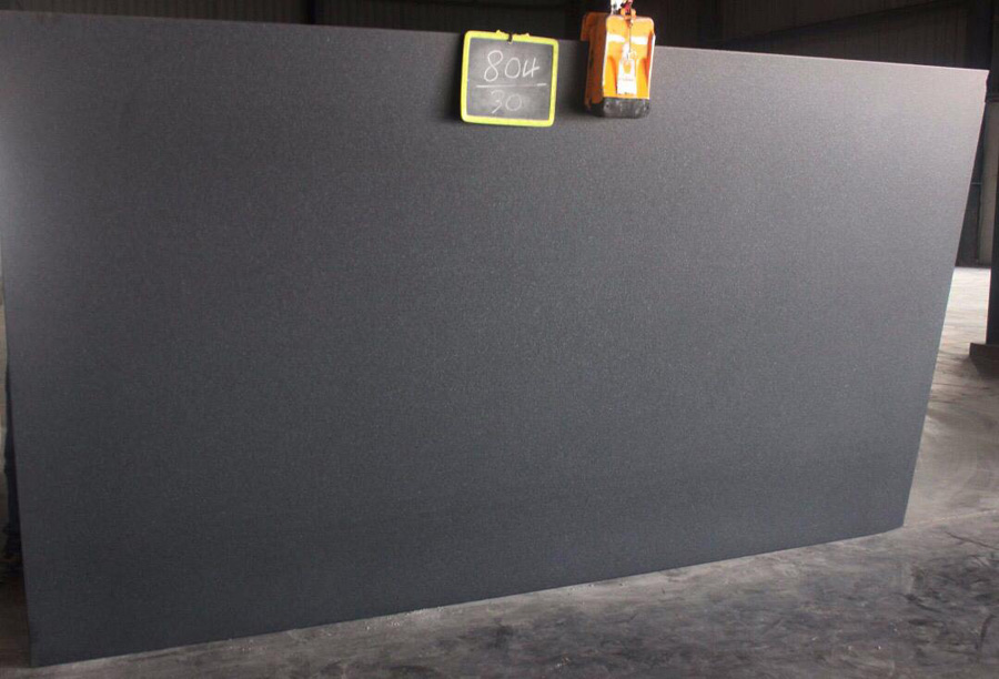 Absolute Black Granite Leather Finish