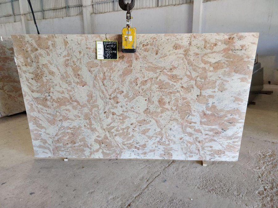 Bahama Ivory Granite Slabs
