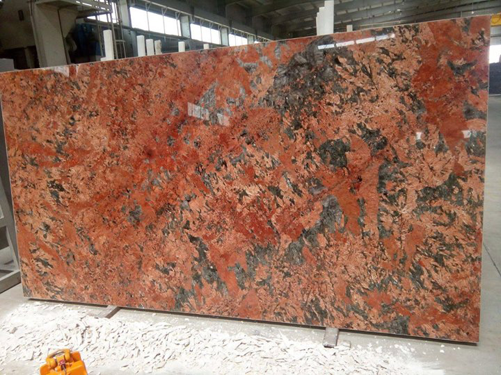 Exotic Alaska Red Granite Slabs