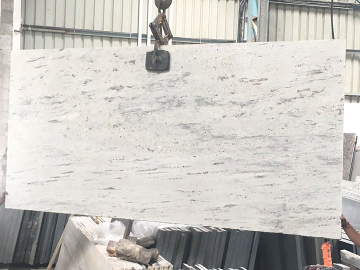 Polka White Granite Slabs