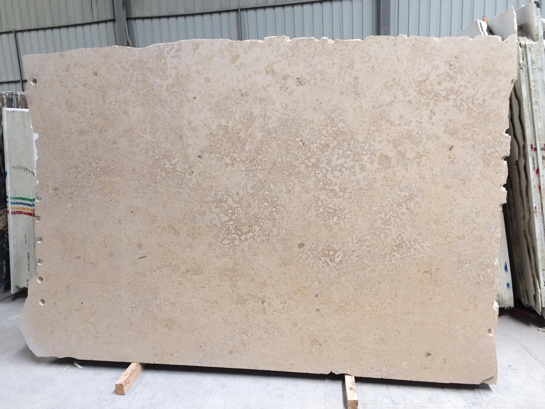 Brushed Jura Beige Limestone Slabs