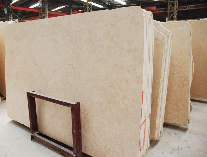 Galala Beige Marble Slabs Egypt Marble Gangsaw Slabs
