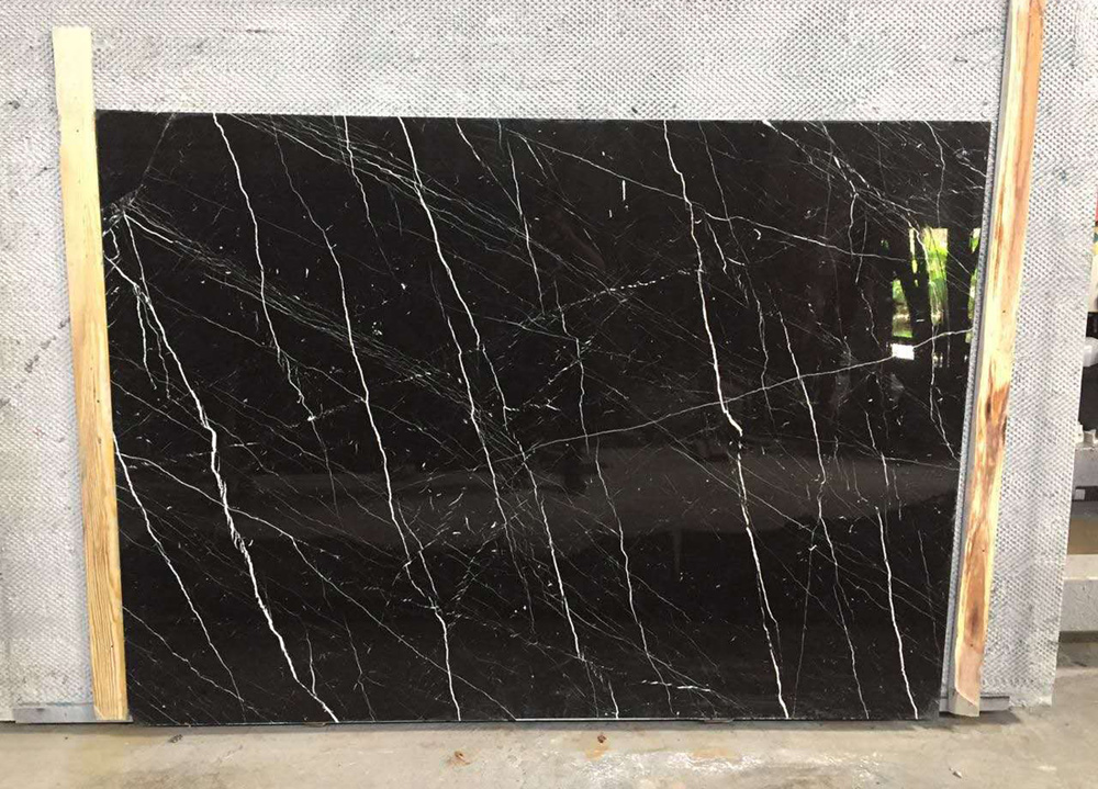 Black Gold Marble Slabs from Romania-211916 - StoneContact.com |Black Marble Slab