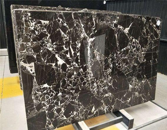 Chinese Nero Black Flower Marble Slabs