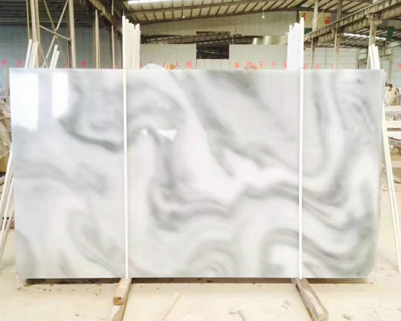 Cloudy White Marble Slabs