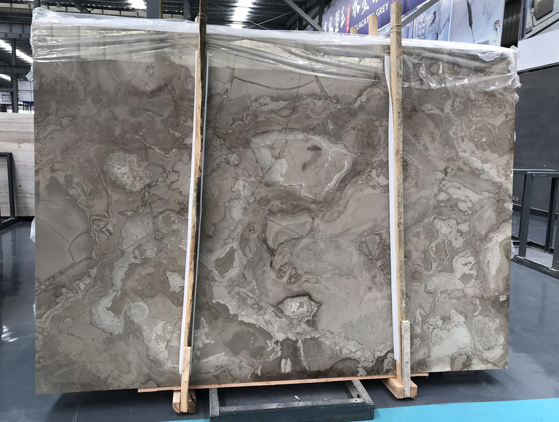 Magic Coffee Wood Marble Slabs