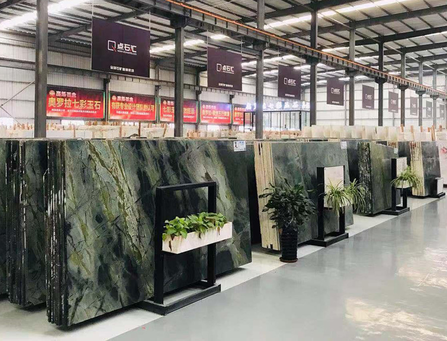 Peacock Green Marble Slabs