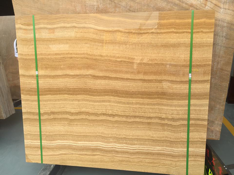 Yellow Wooden Marble Slabs