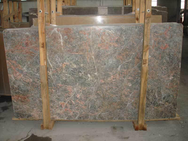Salmon Grey Marble Slabs