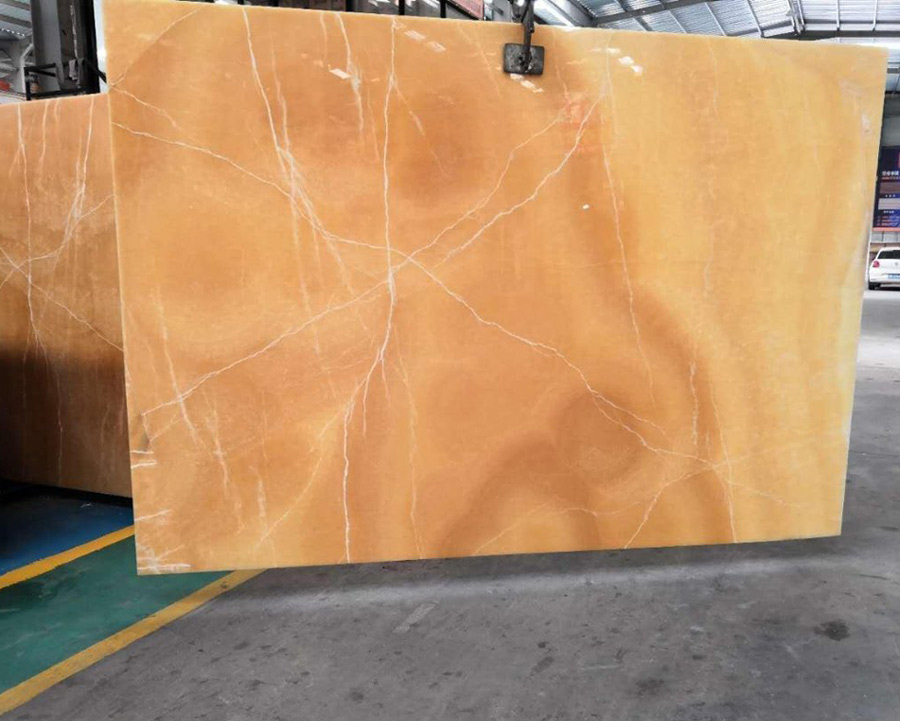 China Yellow Orange Onxy Slabs