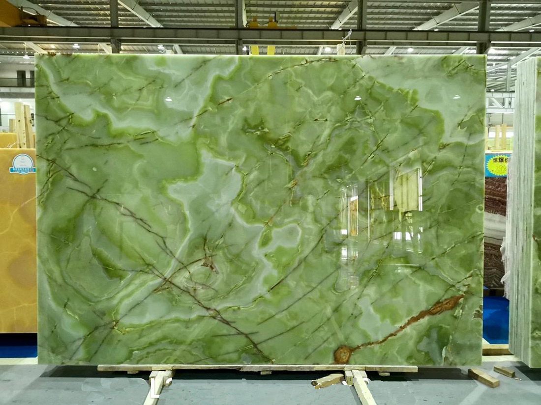 Green Onyx Large Polished Slabs