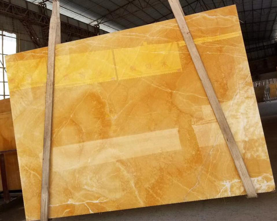 New Honey Onyx Slabs from Chinese Onyx Supplier