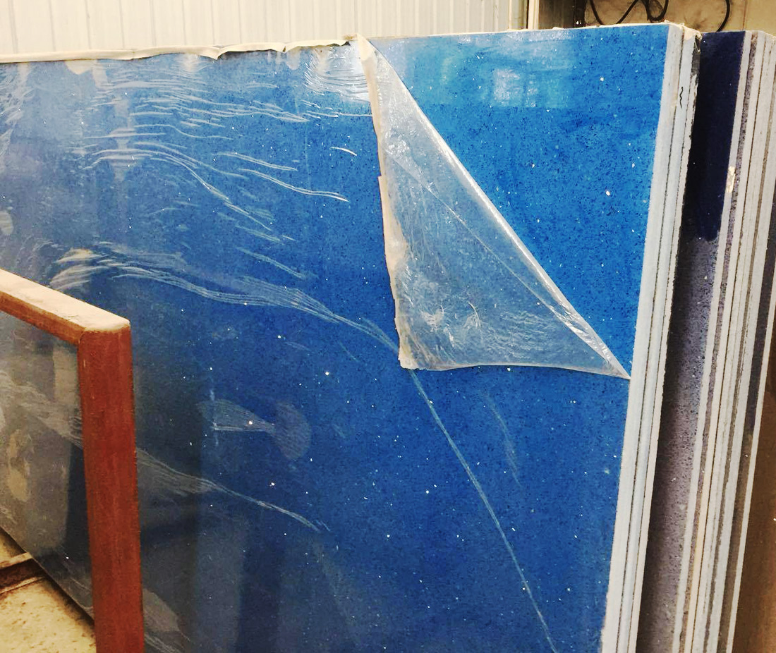 Chinese Blue Quartz Stone Slabs