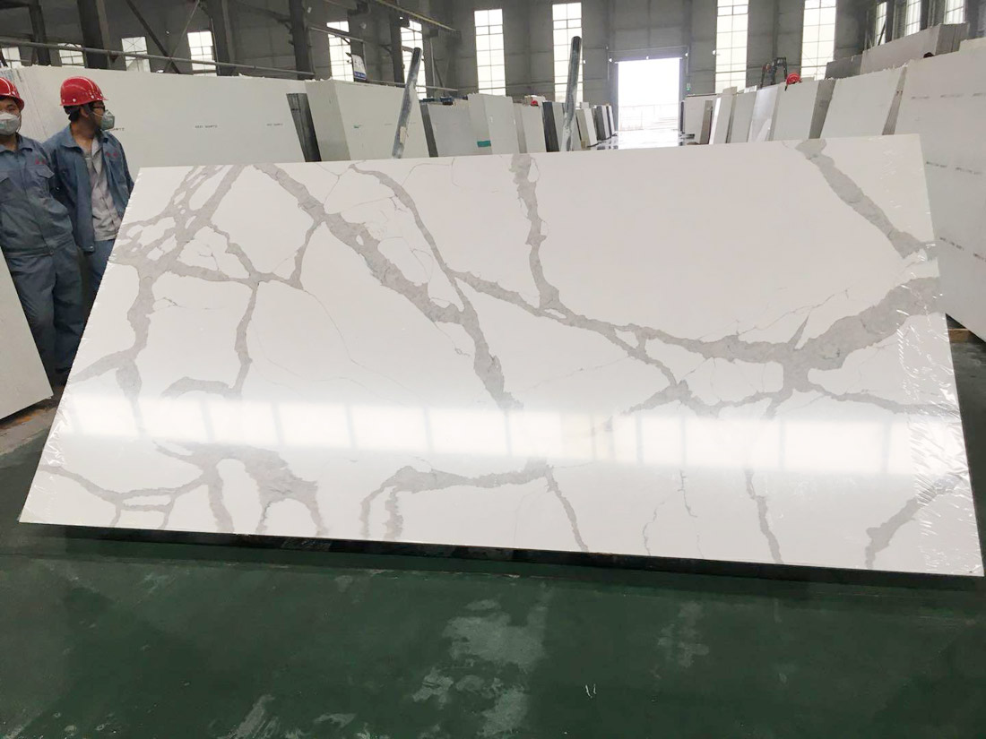 Latest Calacatta Quartz Stone Slabs Design