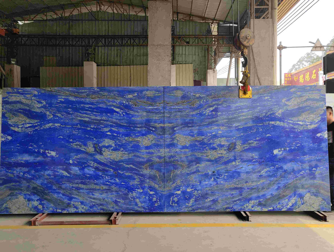 Van Gogh Blue Quartzite Slabs