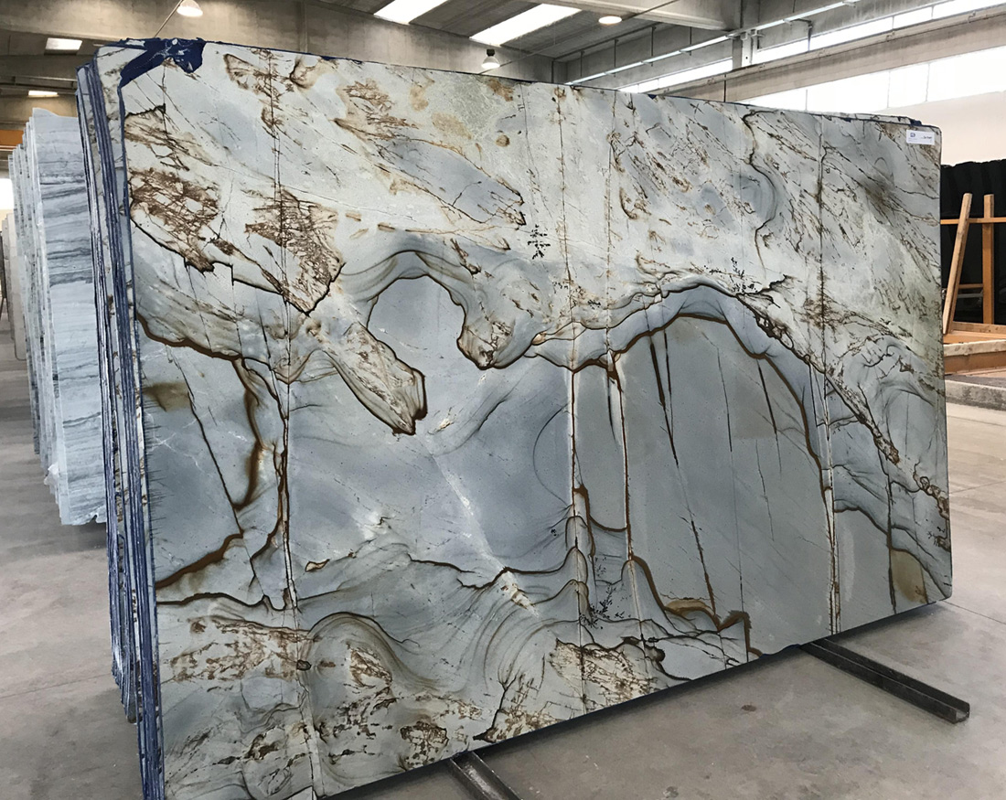 Illusion Blue Quartzite Slabs