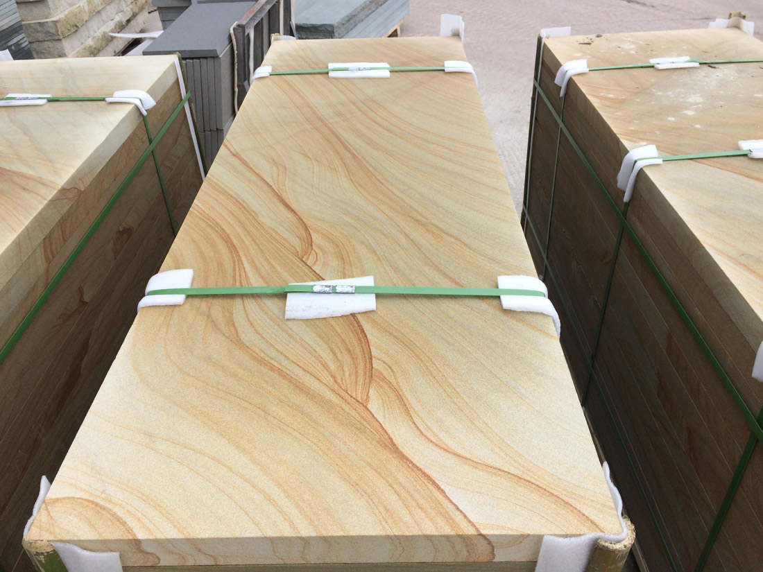 Chinese Yellow Wood Sandstone Slabs