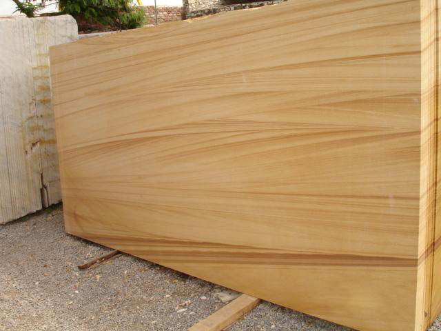 Teak Wood Sandstone Slabs
