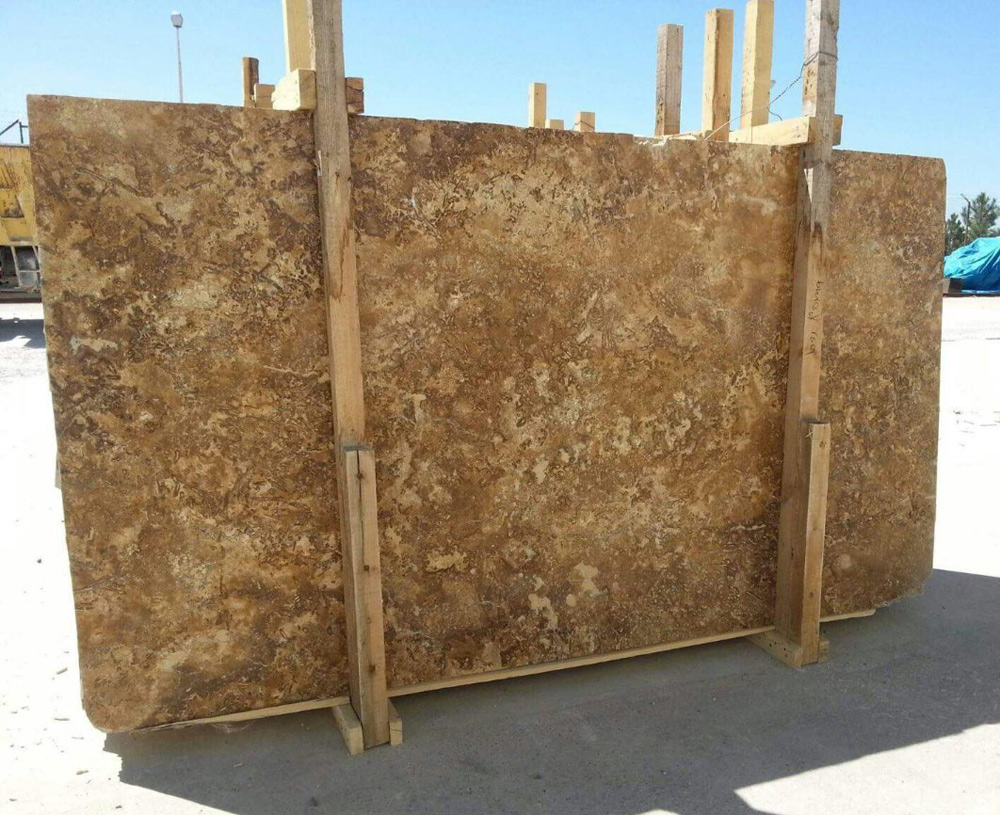Golden Crosscut Travertine Slabs