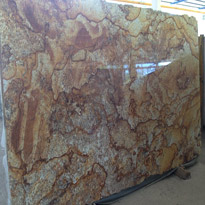 Vulcanic Golden Granite Slabs
