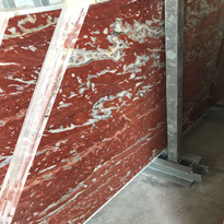 French Rosso Marble Slabs