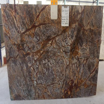Rain Forest Brown Marble Slabs