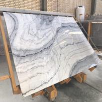 Wavy White Marble Slabs