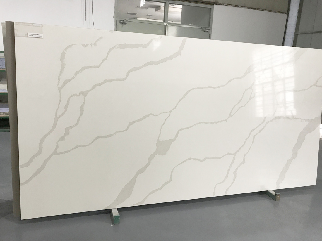 China Artificial Calacatta White Quartz Stone Slabs