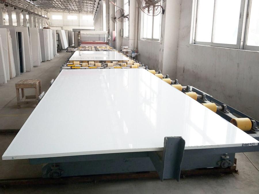 Chinese Pure White Quartz Slabs for Kitchen Countertops
