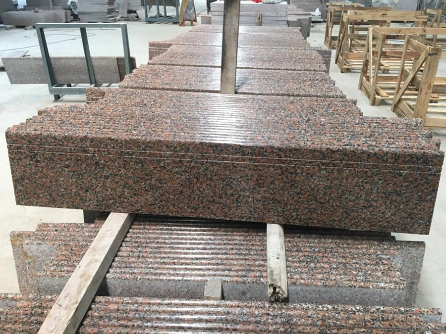 G561 Granite Stairs Red Granite Steps and Risers