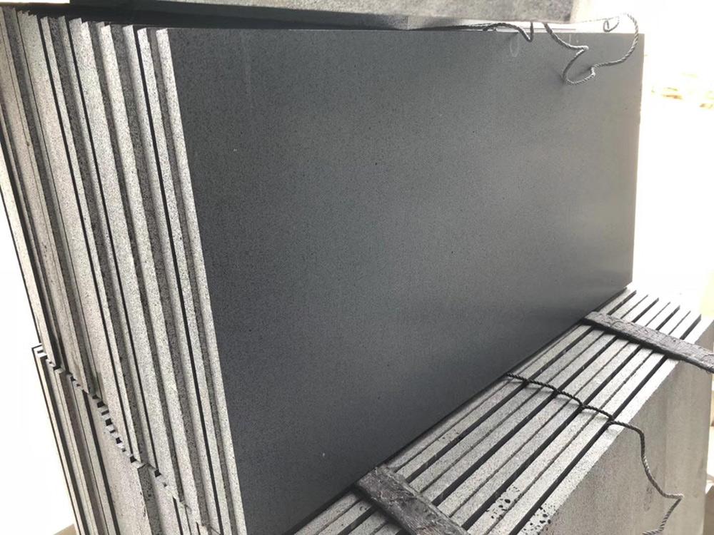 Black Basalt Honed Tiles