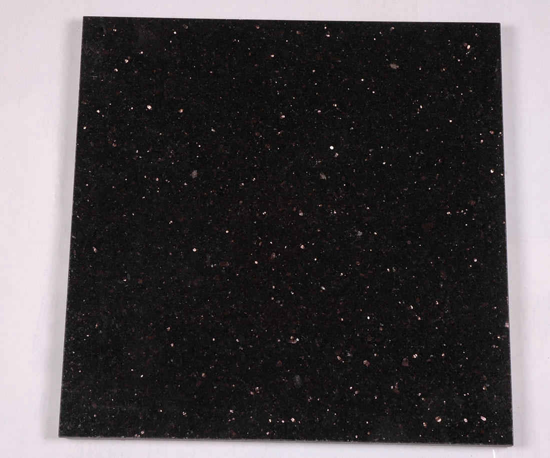 Black Galaxy Granite Tiles for Flooring and Wall