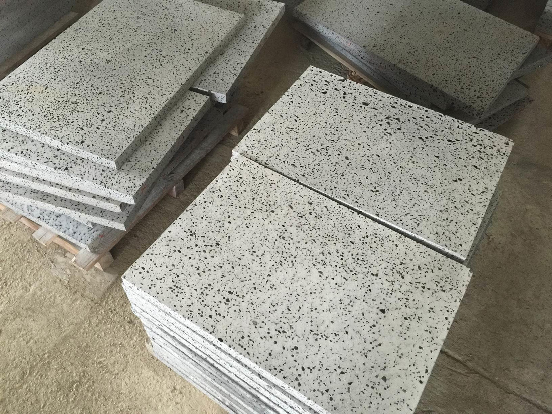 China Lava Stone Tiles for Flooring