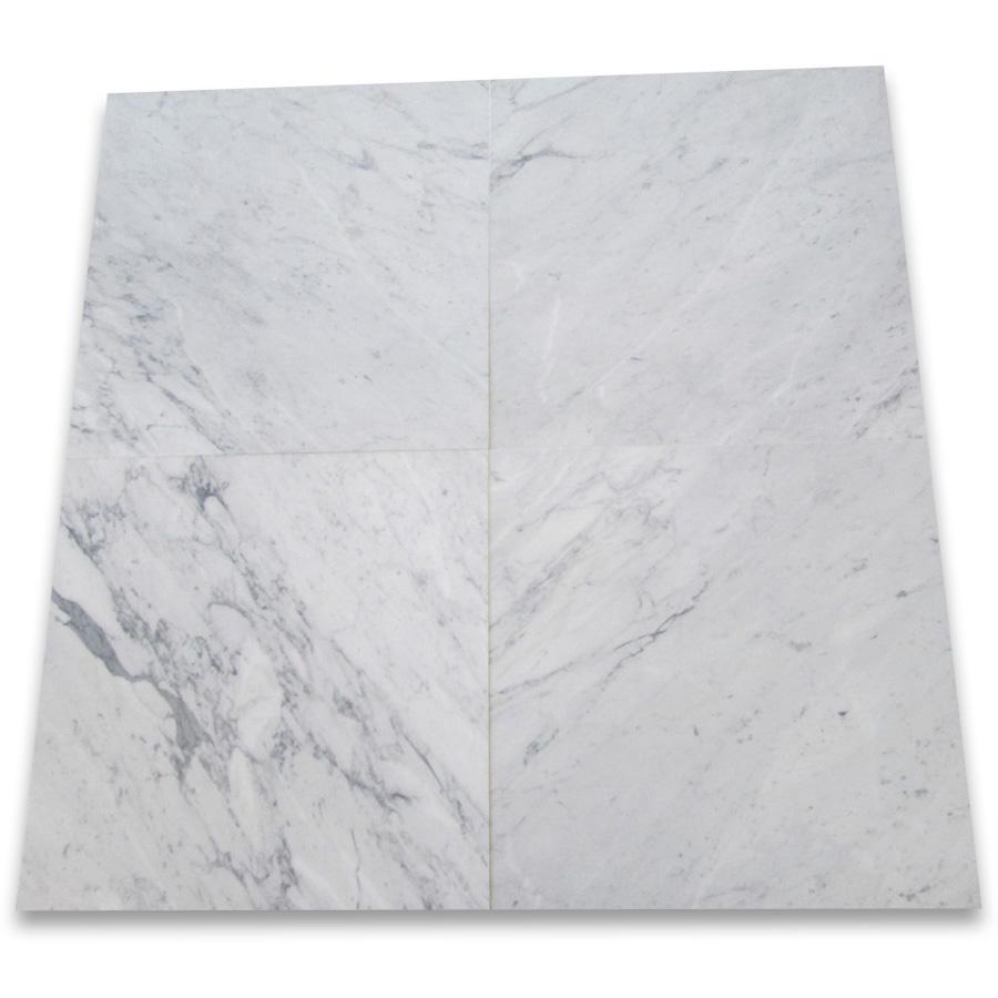 Bianco Carrara White Marble Floor Tiles 24x24 Honed Tiles