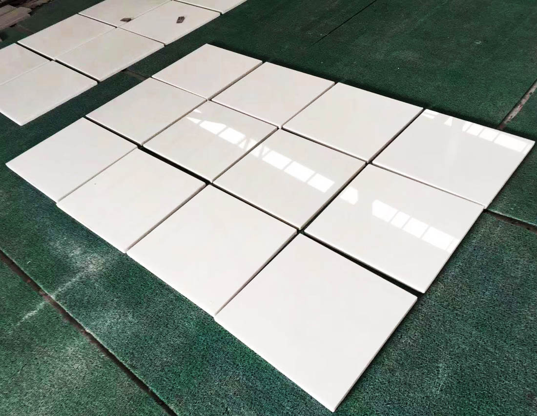 Pure White Marble Flooring Tiles
