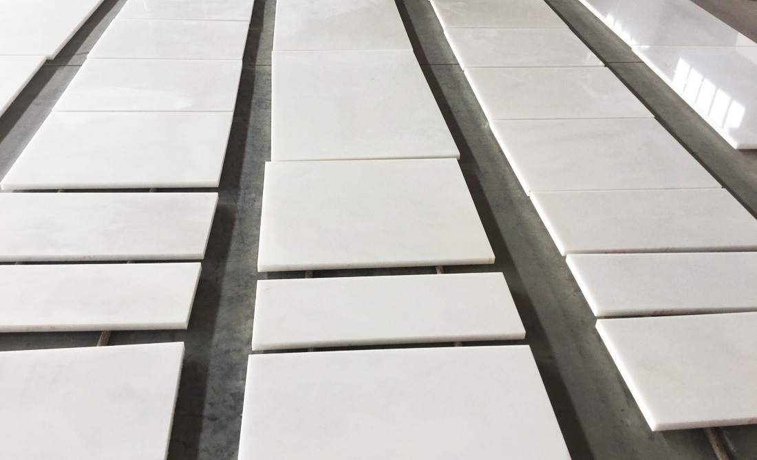 Pure White Marble Tiles Vietnam Marble Tiles