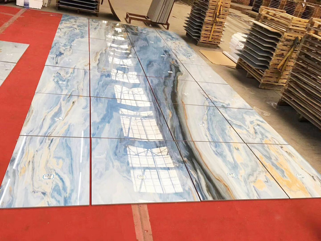 Blue Marble Cut-to-Size Tiles for Project