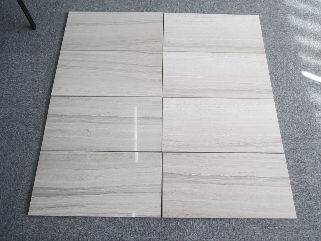 Teakwood White Marble Tiles for Flooring and Wall