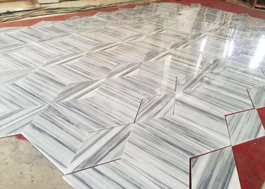 White Galaxy Marble Tiles
