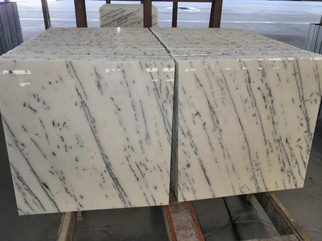 White Glish Marble Tiles