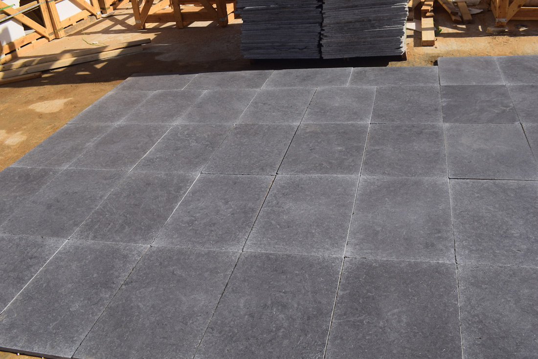 Egyptian Melly Gray Marble Tiles Dark Tumbled Flooring Tiles