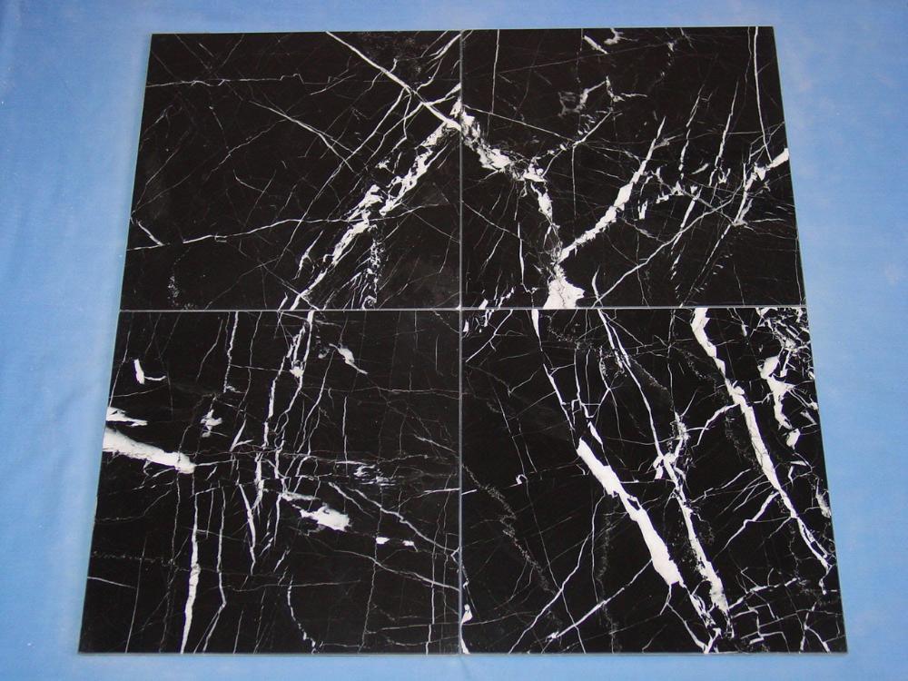 Italian Black Marquina Marble Floor Tiles