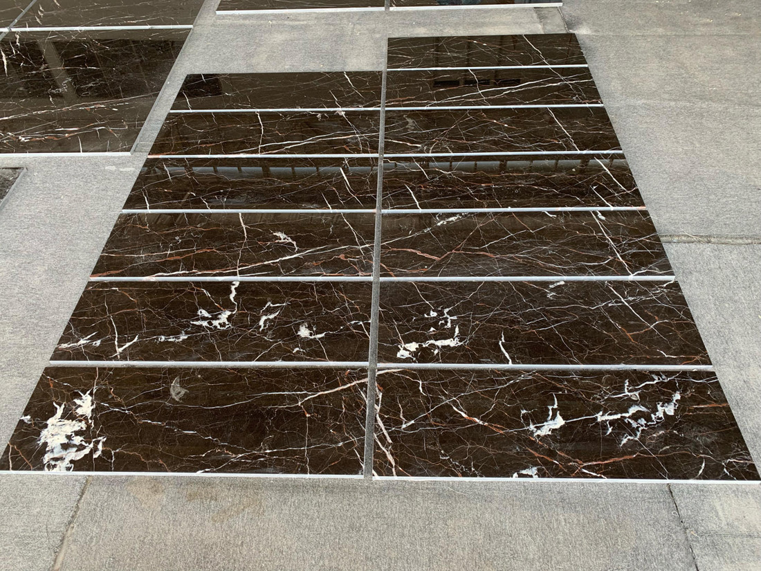 Noir St Laurent Marble Tiles