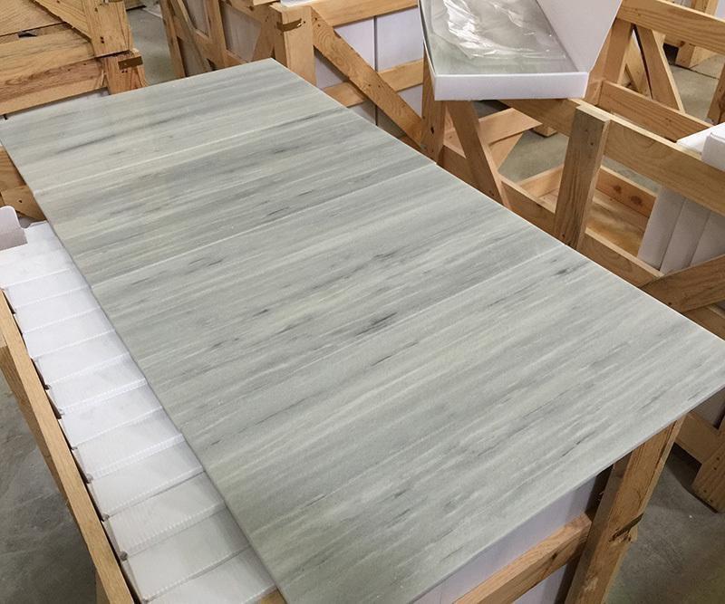 Line White Marble Tiles