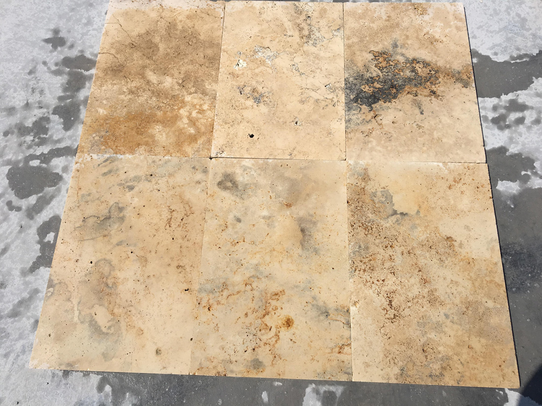Tumbled Sunset Travertine Tiles